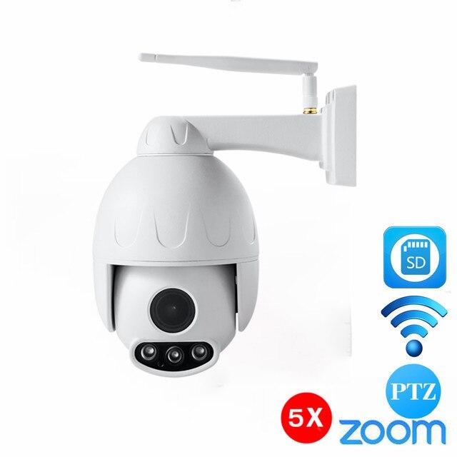 Onvif HD H.264 1080 P 50 м ИК ночного видения Мини CCTV безопасности Wi Fi IP PTZ Камера Скорость купол 5X зум сети IP Ptz Камера