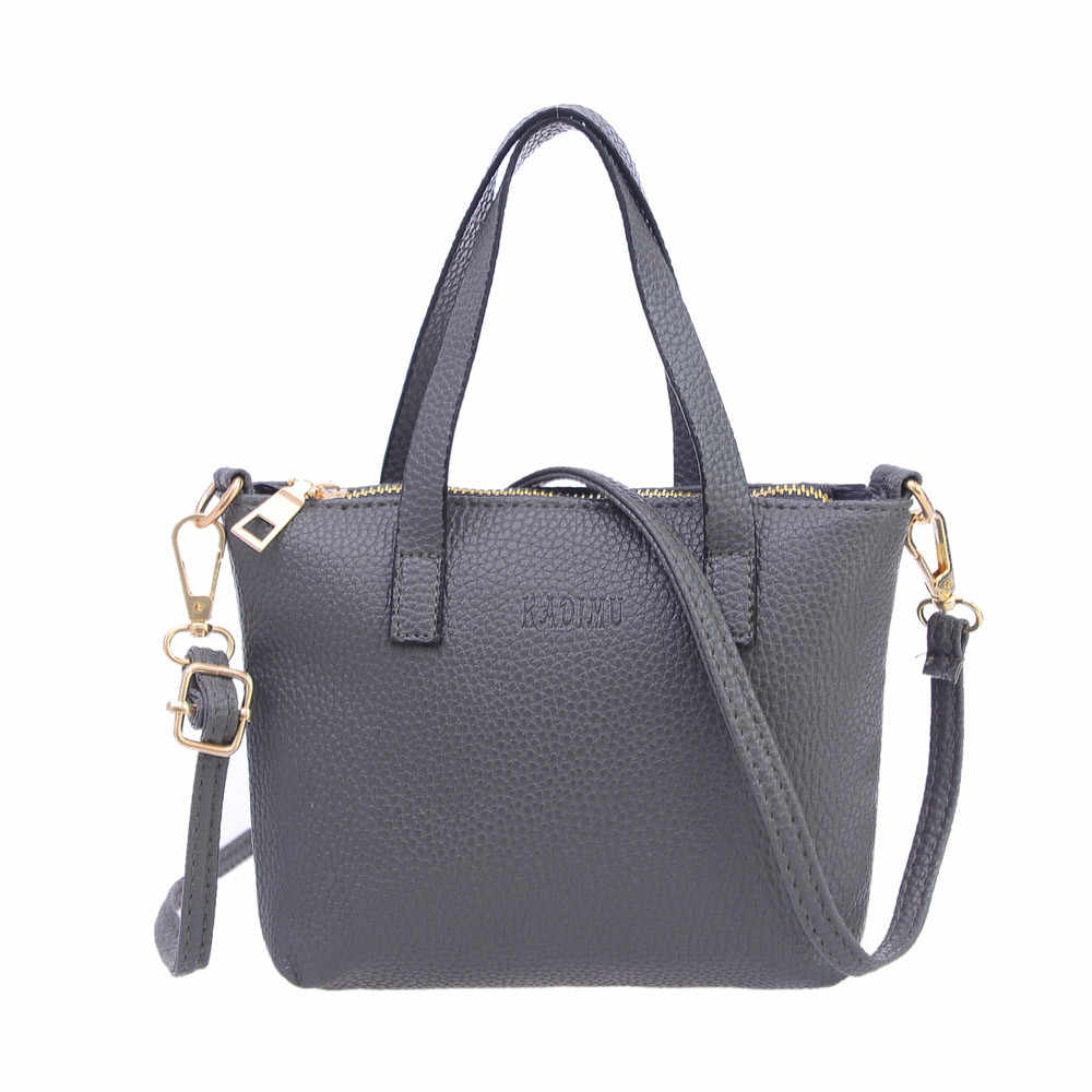 2019 Women Fashion  Handbag Shoulder Bag  Tote Ladies Purse High Quality PU Leather Handbag Women#T2