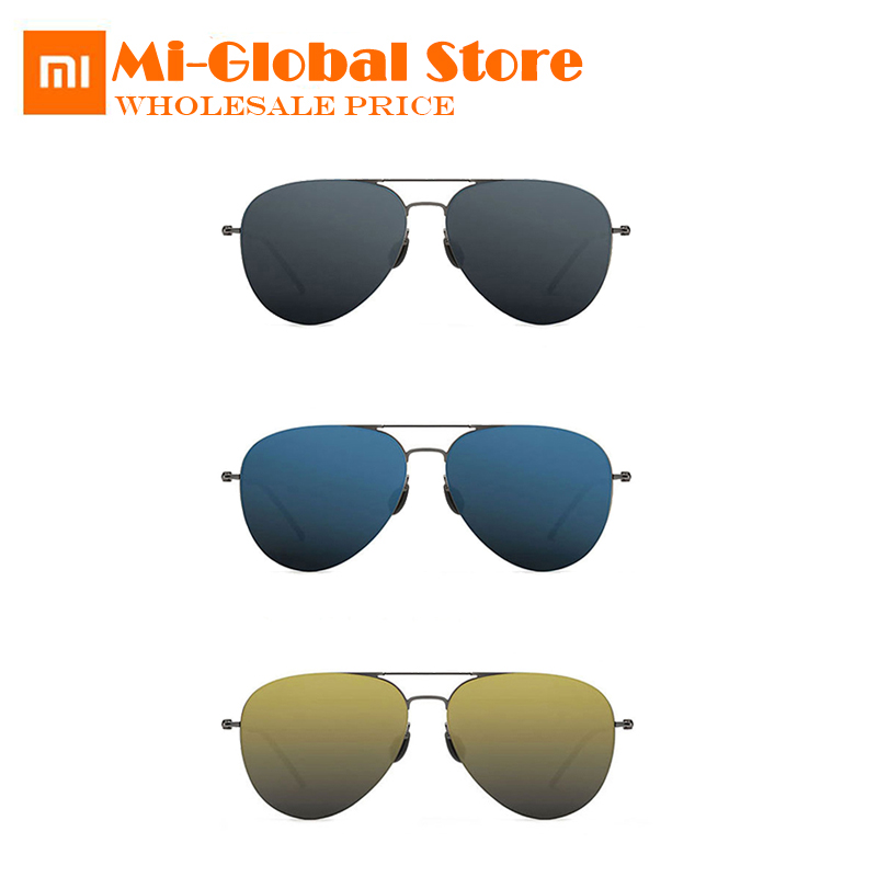 original xiaomi Turok Steinhardt TS Nylon Polarized Sunglasses Colorful RETRO 100% UV-Proof Fashionable Black Sun Lenses unisex stylish two color match lenses hipsters sunglasses for unisex aviator
