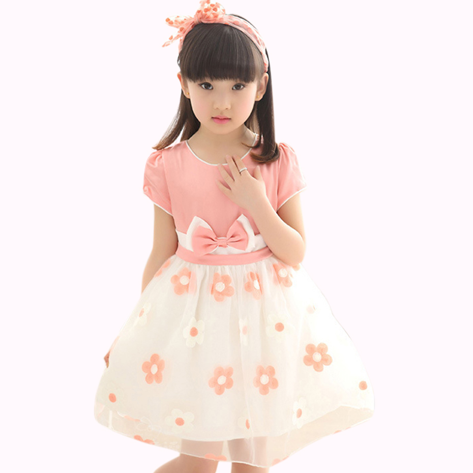 Summer season Ladies Clothes Princess Gown Youngsters Mesh Ladies Gown Floral Gown Woman Bow Youngsters Garments Teenage Woman Clothes 6 8 12 Years Clothes, Low cost Clothes, Summer season...
