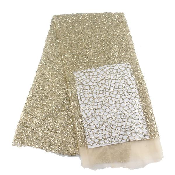 Nova Chegada Bordados Rendas Tecido Glitter Tulle Vestido De