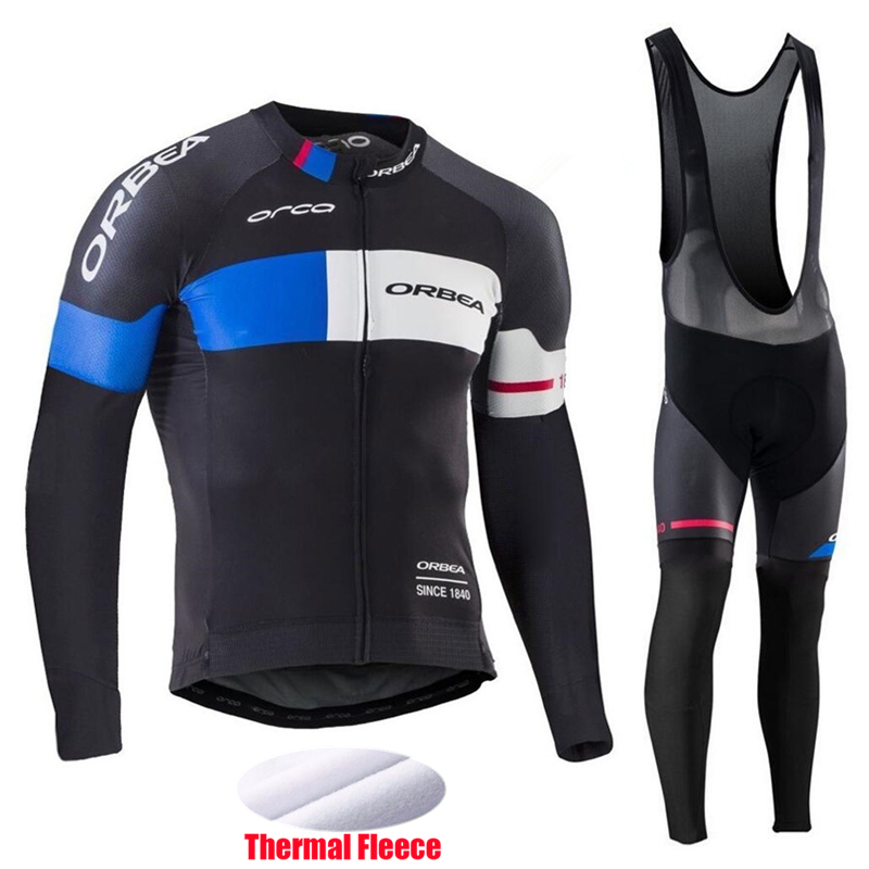 Fualrny 2017 Winter Pro Team ORBEA Cycling Clothing Long Sleeves Thermal Fleece Cycling Jerseys MTB Bike Ropa Ciclismo Sportwear new team teleyi cycling jerseys 2017 short sleeves summer breathable cycling clothing pro mtb bike jerseys ropa ciclismo