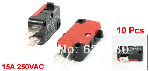 10 Pcs / Lot x Arcade Cherry Push Button Microwave Oven Door Micro Switch SPDT 1