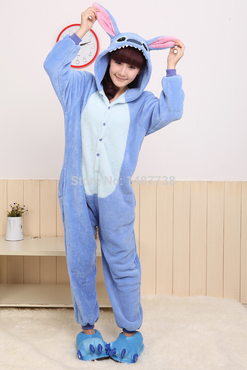 Kigurumi Animal Stitch Onesie Unisex Kostüme Sleepsuit Adult Cartoon - Kostüme - Foto 5