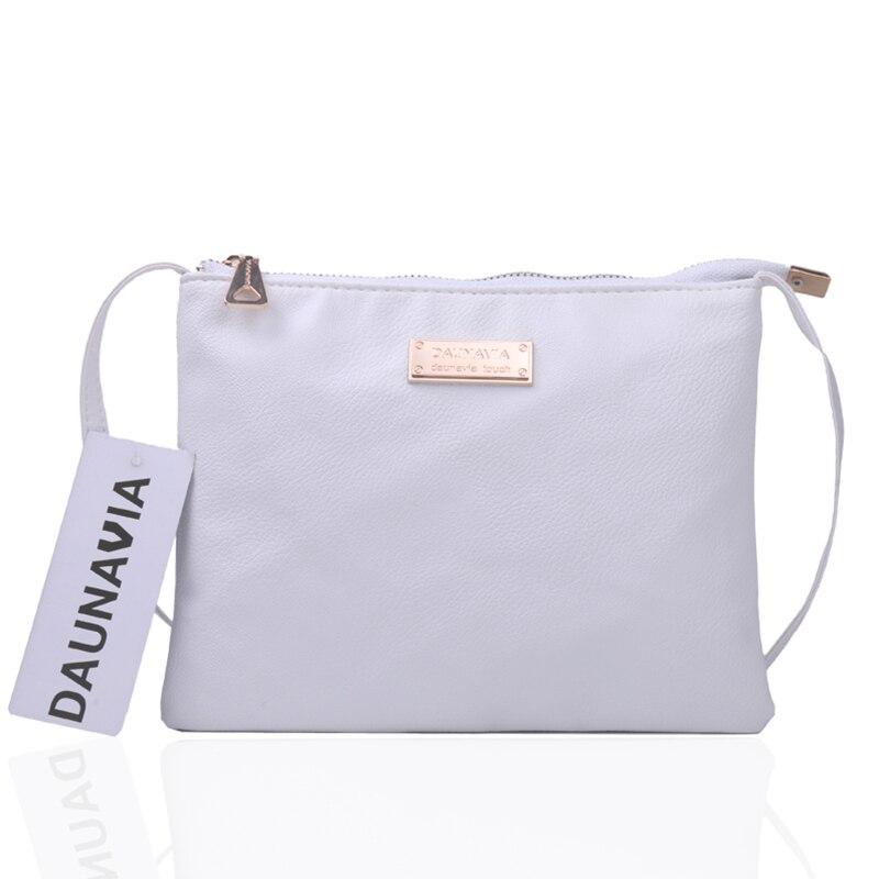 DAUNAVIA Luxury mood käekotid puhas värvi kott Disainer Nahast - Käekotid - Foto 6