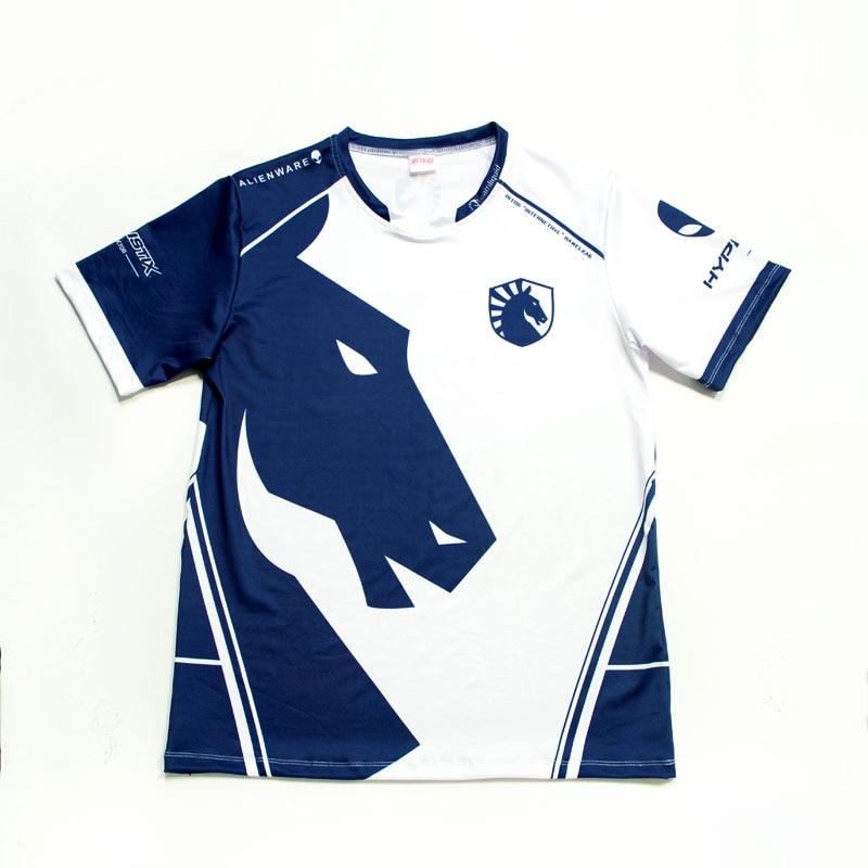 Tsingyi Esports Team Liquid Custom ID Tshirt Fans   T  -  shirt   Men Women N-neck Short Sleeve   T     shirts   Custom Tee   Shirt   Homme