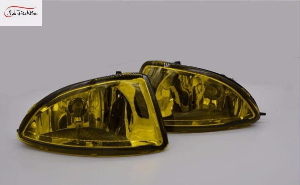 JanDeNing Car Fog Lights for Honda Civic 2/4DR 2004 ~ 2005 Halogen bulb H11-12V 55W Front Fog Lights Bumper Lamps Kit