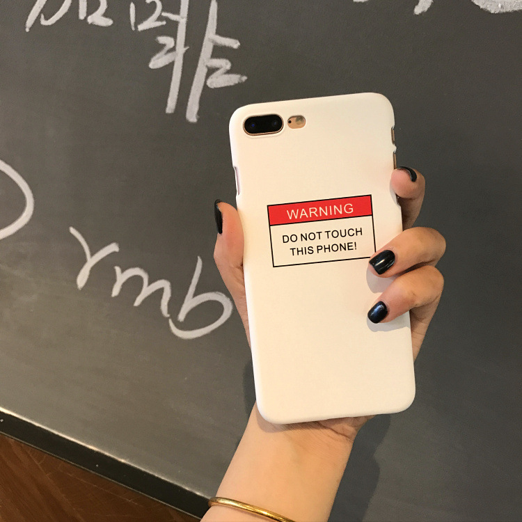 detailed look 4cdc2 7e4d8 US $4.9  SZYHOME Phone Cases Simple Text for IPhone 6 6s 7 Plus Case  Personality Frosted for IPhone 7 Plus Hard Mobile Phone Cover Capa-in ...