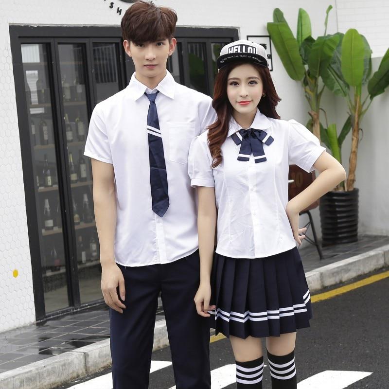Girls School Uniform Class Dress Japanese School Uniform Graduation Suit Short Sleeve Suit Teenager Collge Uniform D-0203