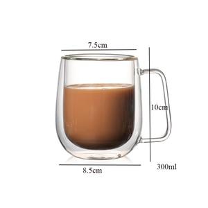 Image 2 - Heat resistant Double Wall Glass Cup Beer Coffee Cup Handmade Creative Beer Mug Tea Cup Whiskey Glass Cups Drinkware