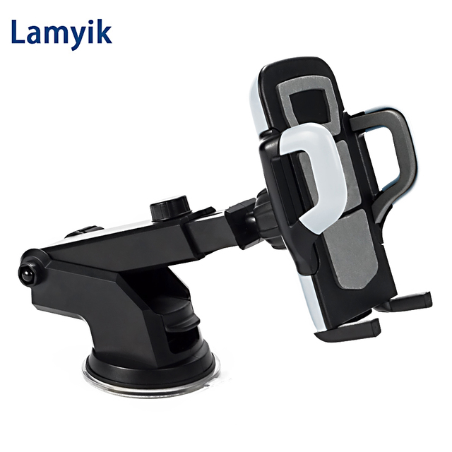 Universal Suck Holder Sticky Phone Car Holders For iPhone 6 7 Glass Stand Support Rotatable Bracket Universal Car Phone Holder
