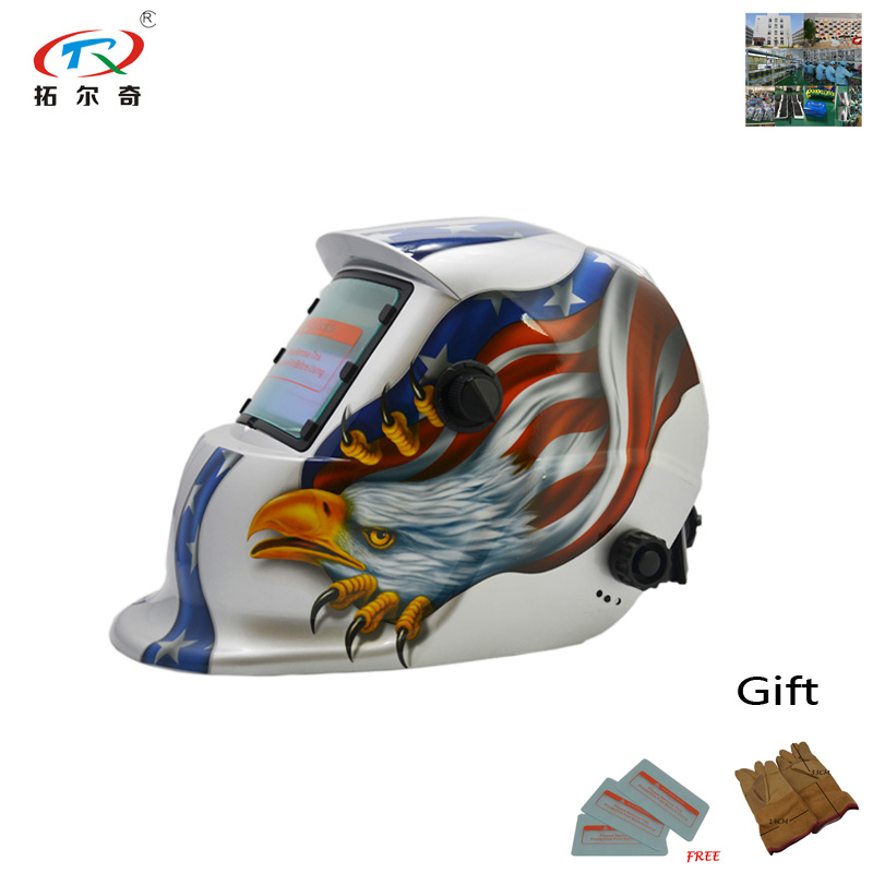 Tools Welding & Soldering Supplies Tig Welding Helmet Auto Darkening With Lucky Speed Shop Pattern Welder Full Face Eyes Protection Fast Shipping Trq-hd12-2233ff Beautiful And Charming