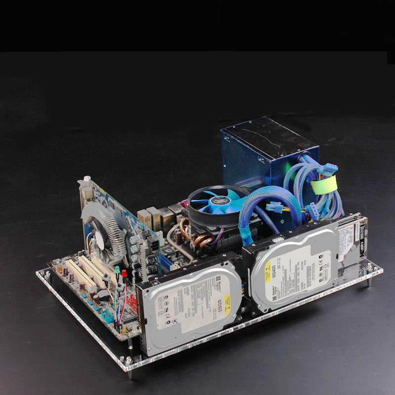 Personalized DIY Transparent Acrylic Open Bare Frame ATX motherboard Desktop Chassis case Nude Platform Test Bench 2