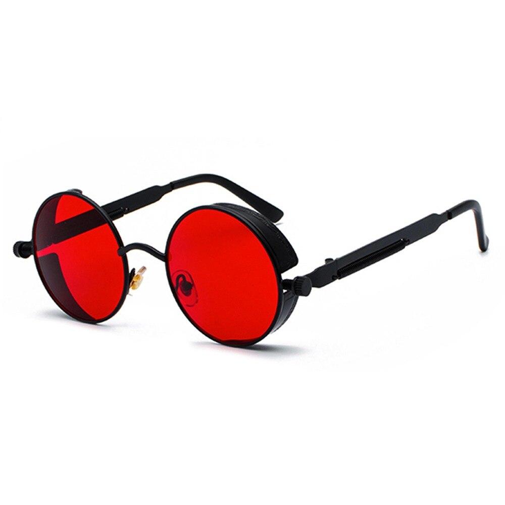 3627199019 Peekaboo redonda de metal steampunk gafas de sol de las mujeres de los  hombres de moda