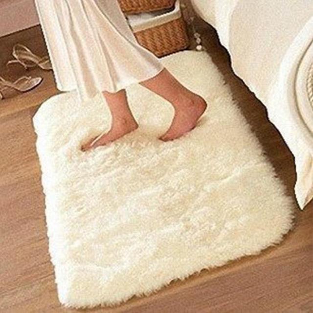 50*80cm Carpet Floor Bath Mat Suede Non-slip Mat Bathroom Floor Rugs Plush Memory Velvet Mats Dust Doormat Absorbent Floor Rug