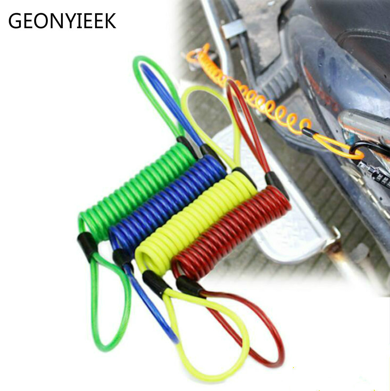 150cm Motorcycle Theft Protection Alarm Disc Lock Security Anti Thief Motorbike Wheel Disc Brake Bag And Reminder Spring Cable