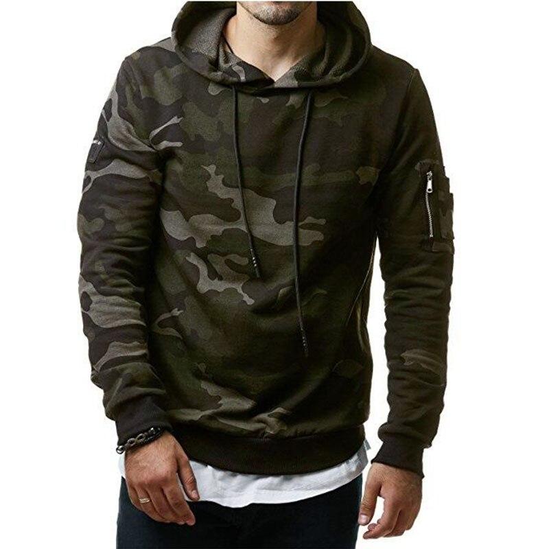Hoodies Men 2017 New Fashion Male Hoodies Hombre Hip Hop Casual Brand Hoodie Camouflage Sweatshirt Men Slim Fit Men Hoody M-3XL