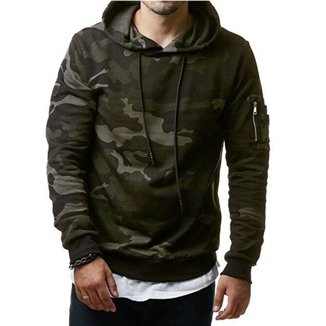Hoodies Men 2018 New Fashion Male Hoodies Hombre Hip Hop Casual Brand Hoodie  Camouflage Sweatshirt Men Slim Fit Men Hoody M-3XL 4677398723f