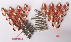 Parts IPT60 cutting torch consumables for CUT55, Accessories 10 Electrodes 20 Tips