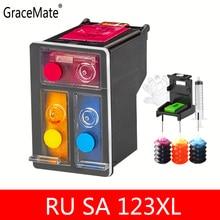 Russia Belarus 2130 Color refillable ink Replacment For HP 123 color Ink Cartridge For HP Deskjet 2130 1110 3639 3638 Printer mfd hp deskjet 2130 printer
