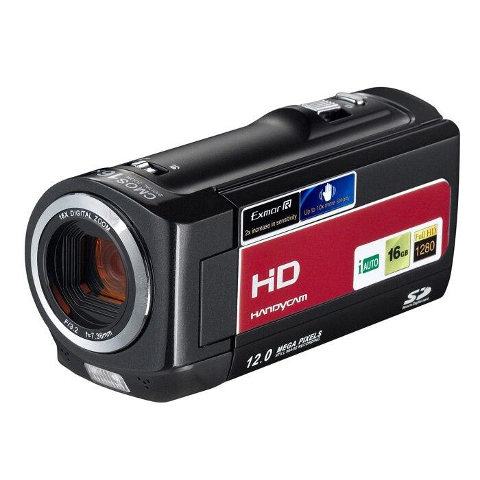 16MP Max 720P HD 16X Zoom numérique caméra vidéo numérique caméscope avec Mini batterie USB2.0 et Li-ion haute vitesse