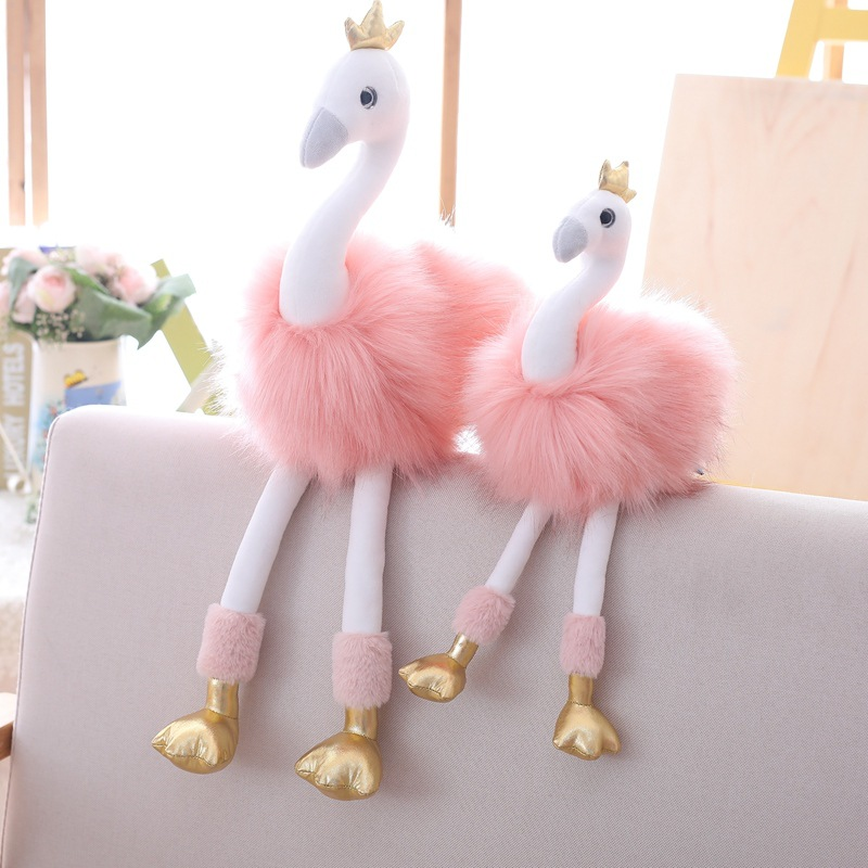 40cm/60cm Cute Plush Toys Cartoon Pink Flamingo Doll Plush Pillow Girls Toy For Home Decoration Accessories Swan