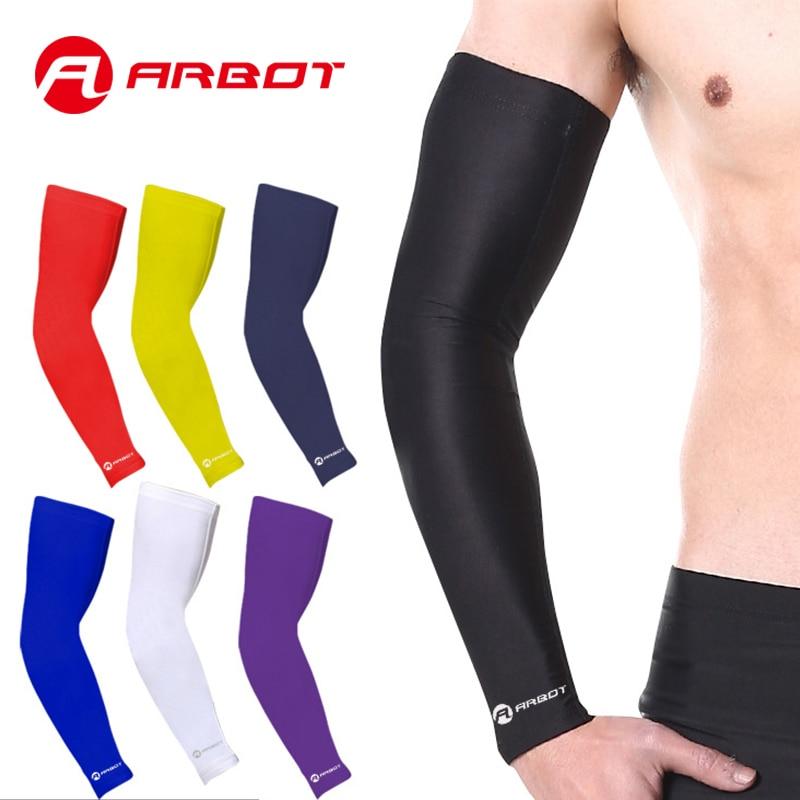 ARBOT यूवी आर्म स्लीव्स फॉर सन प्रोटेक्शन आर्म कूलिंग स्लीव आर्म वॉर्मर्स एंटी-स्लिप स्किन प्रोटेक्शन फॉर बास्केटबॉल / बाइकिंग / साइकलिंग