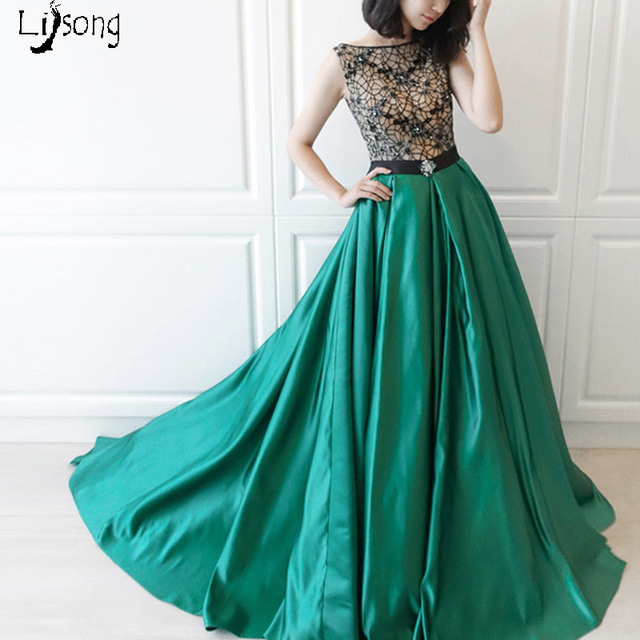 Elegant Green Pleated Cut out Evening Dress Custom Made Women Formal ...