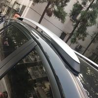 Для Toyota Rav4 Rav 4 2013 2014 2015 2016 2017 Алюминий ленты сторона бары рейлинги стойку Чемодан аксессуары носителей