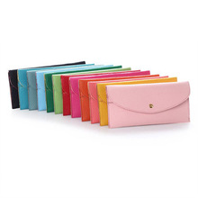 Cheapest female Long type exchange wallet bag Candy colored hot sale fashion pink/rose women clutch wallet long money purse