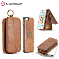 For Apple IPhone 6 Case Luxury PU Leahter Wallet Zipper Card Holder Cover For IPhone 6s