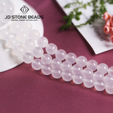 цены Natural  Ice Afghnistan Jade White Chalcedony  Round Stone Beads DIY Hand made Fine jewelry Accessories  Hot Sales Beads