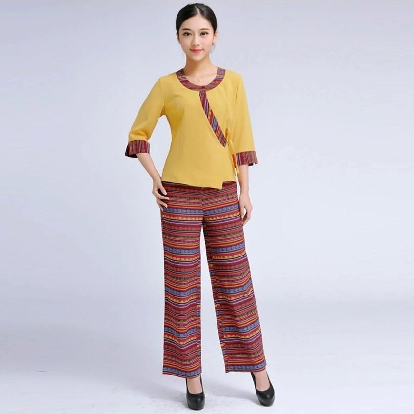 2015 new summer thai style female medical uniform beauty for Uniform thai spa