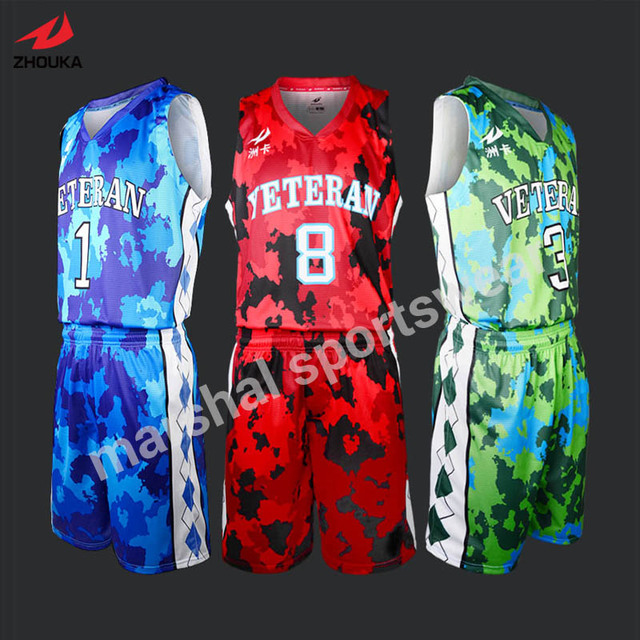 full sublimation custom basketball jerseys OEM any color
