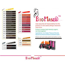 10 ML 9157 DARK BROWN Biomaser tanaman ekstrak intensitas tinggi organik tidak beracun EYEBROW tattoo micro Pigmen tinta makeup permanen