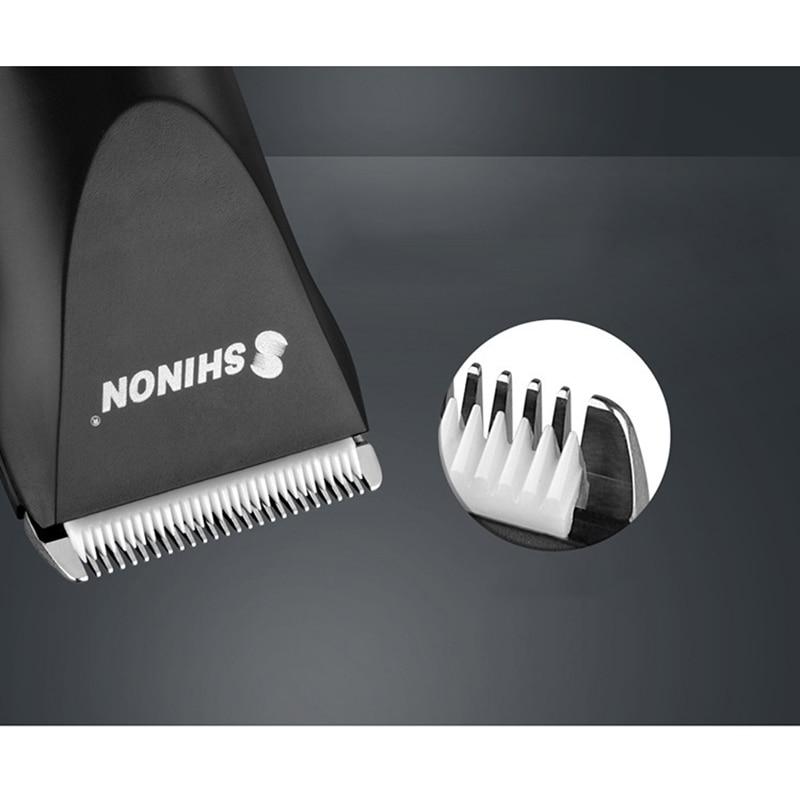 Shinon tondeuse à cheveux sans fil et Rechargeable ensemble tondeuse à cheveux barbe Machine de découpe Kit Eu Plug - 2
