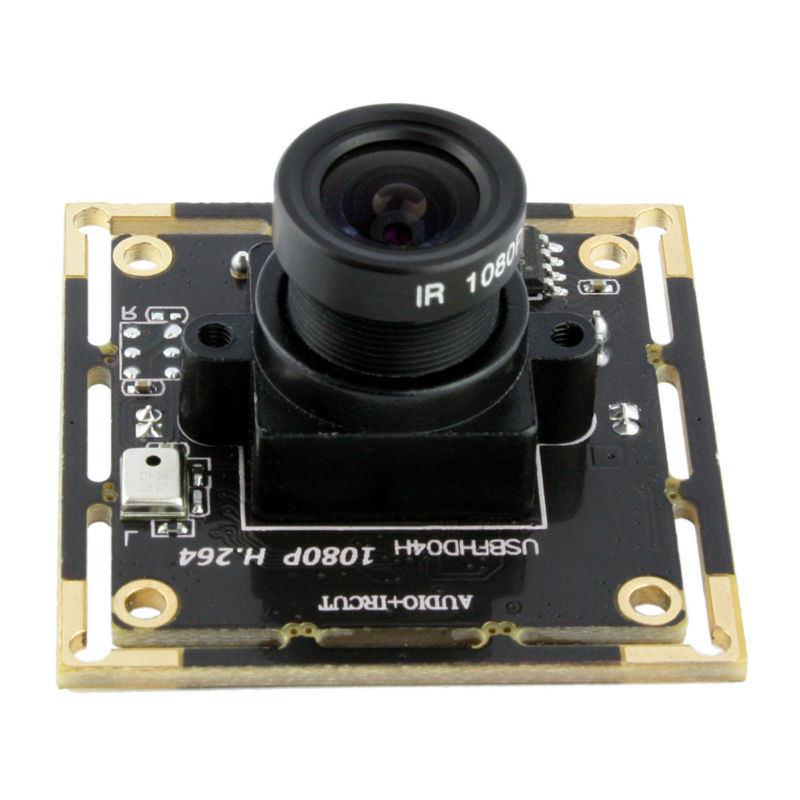 ELP 1080P full HD Usb Cam Board H264 Usb Web Camera with 8mm lens for PC with Audio Mic Microphone for andriod linux mool usb 2 0 50 0m hd webcam camera web cam with miniphone mic for computer pc laptop black