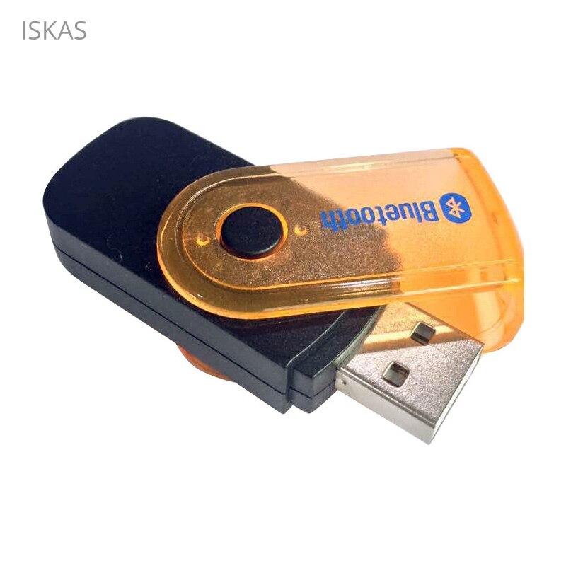 ISKAS diente azul transmisor 3,5mm Bluetooth 4,2 de 3,5mm Jack manos libres inalámbrico Aux Bluetooth Adaptador transmisor