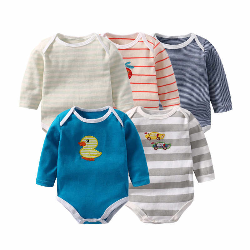 3eb0131570f2 Detail Feedback Questions about 5 Pack Baby Boy Rompers Cotton Full ...
