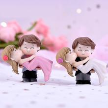 Милая модель для влюбленных невесты, жениха, миниатюрный пейзаж, Свадебный декор, орнамент для молодоженов, украшения, сделай сам, свадебные подарки, свадебное благословение
