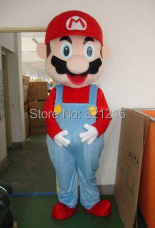 New Arrival Christmas Suit Super Mario Mascot Costume Suit Party Fancy Dress Red Captain Free shipping