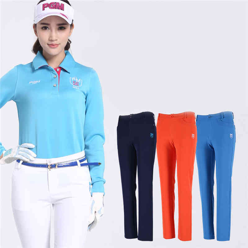 PGM Golf Pants Sportwear Female Slim Trouser Skinny Pencil Golf Tennis Golfs Trousers Ladies Clothes Lady Full Length Trousers туфли shoiberg туфли на каблуке
