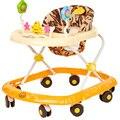 Portable Andador Paseo Bebé Niño Juguetes de la Música de Paseo Anti Vuelco Portátil Plegable Bebé A Pie de Aprendizaje Coche C01