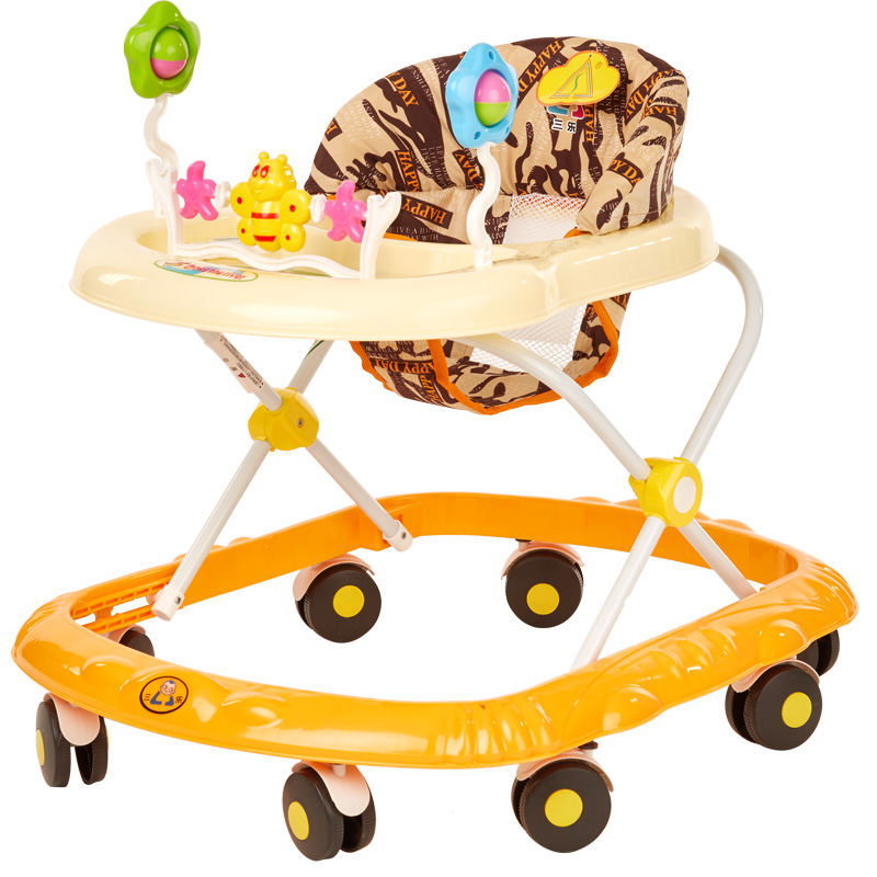 Portable Baby Walker Portable Baby Toddler Walk Stroller Music Toys Anti Roll Over Folding Baby Walking Learning Car 45cm baby stroller sit to stand learning walker multifunction outdoor toy ride on car stokke activity walker gift for baby
