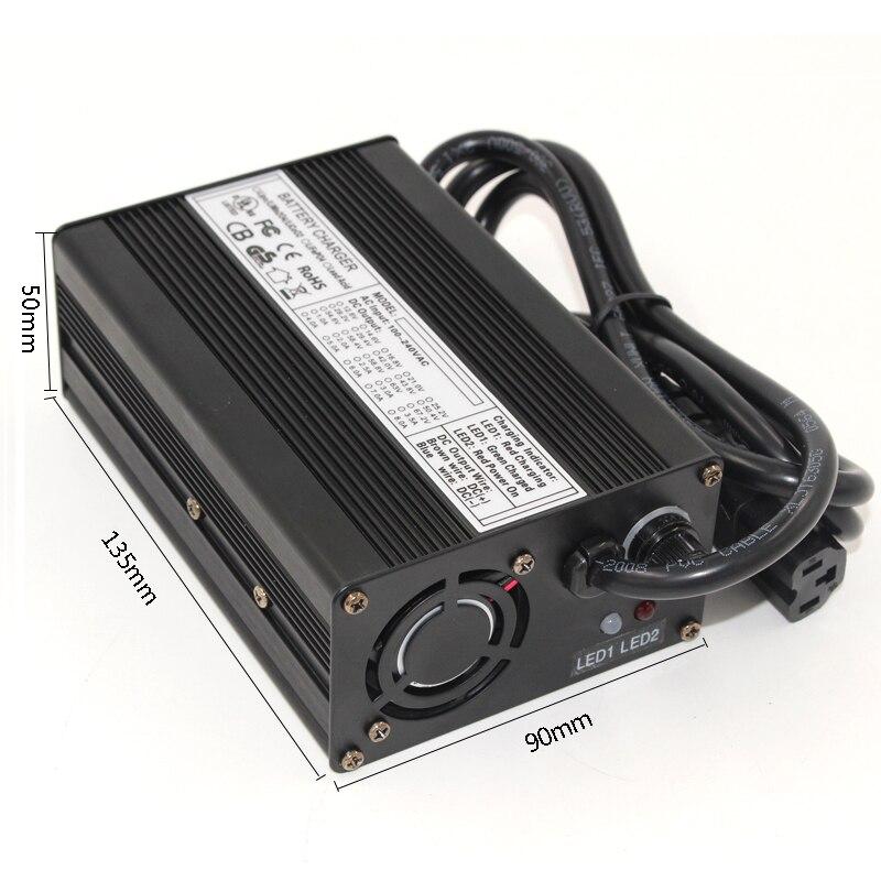 58.4 V 3A LiFePO4 chargeur de batterie 16 S 48 V LiFePO4 chargeur de batterie en aluminium