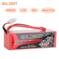 GOLDBAT 14.8V LiPo Battery for RC 5000mAh battery lipo 4S 50C with Deans T Plug for RC Buggy Truggy Crawler Monster Boat Truck
