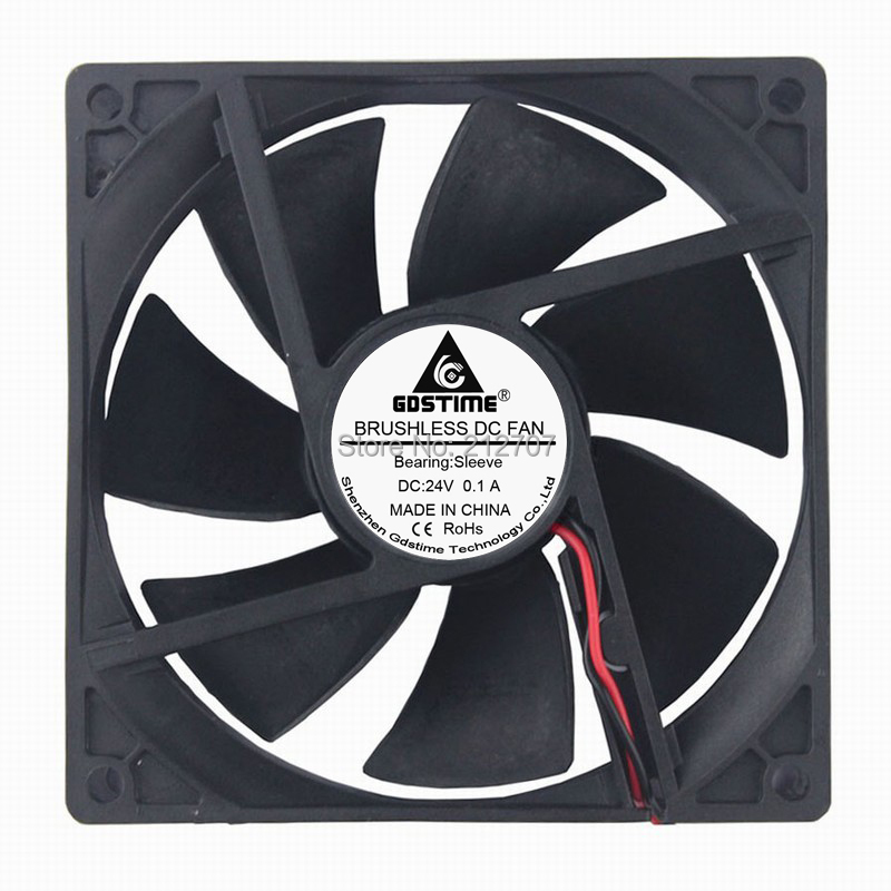 1 Pieces Gdstime Ball DC 24volt 2Pin Cooling Cooler Fan 9225S 92mm x 25mm 92mm