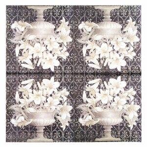 Image 5 - 20 Vintage table Napkin paper decoupage wedding christmas birthday party  flower white balck serviettes  decorative tissue