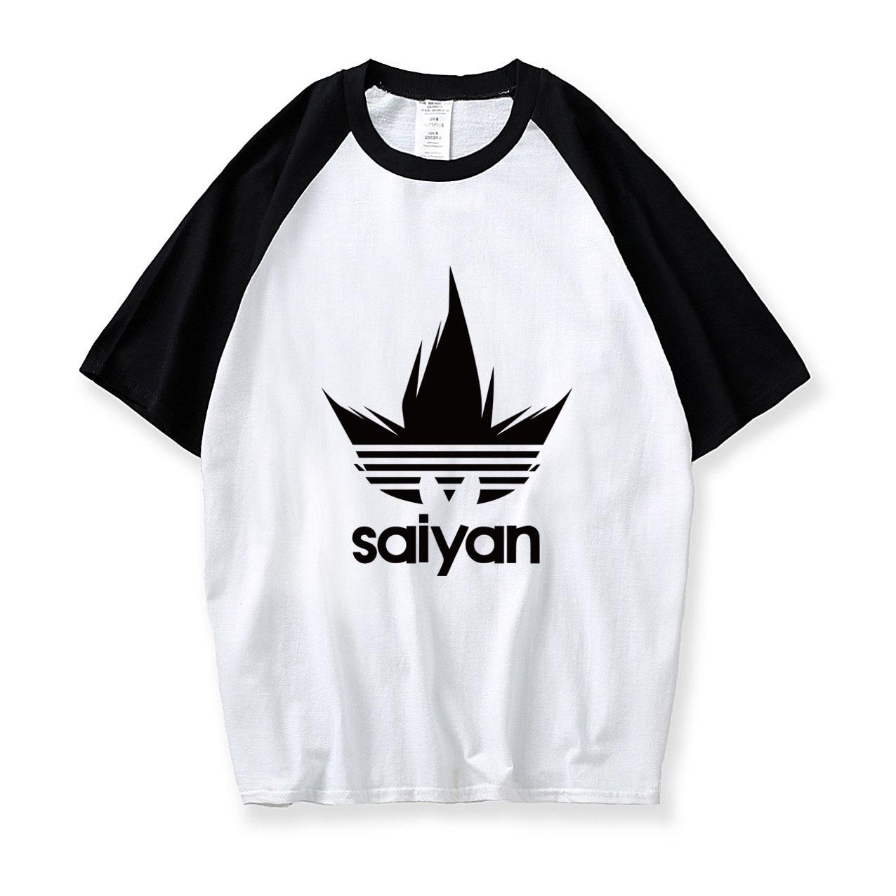 Cotton tops Dragon Ball Z T-Shirts 2019 Fitness Evolution T-Shirt Men casual raglan Short Sleeve O-neck super Saiyan tee shirts