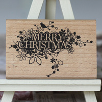 Merry Christmas Stamps 9 6cm Tinta Sellos Craft Wooden Rubber Stamps For Scrapbooking Carimbo Timbri Stempel